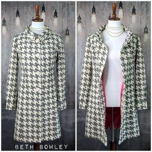 Beth Bowley Woven Houndstooth Coat, FLAWLESS